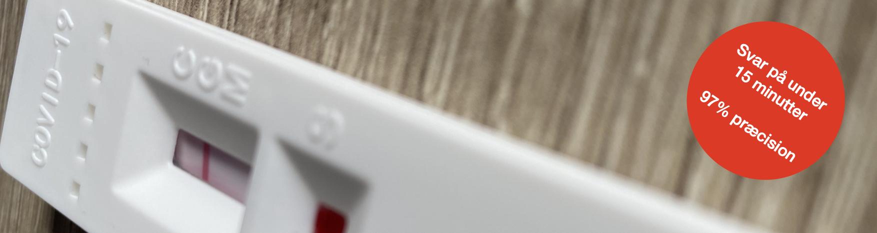 Covid19 Test fra BRANDABC er 97% sikre, og udføres på under 15 minutter